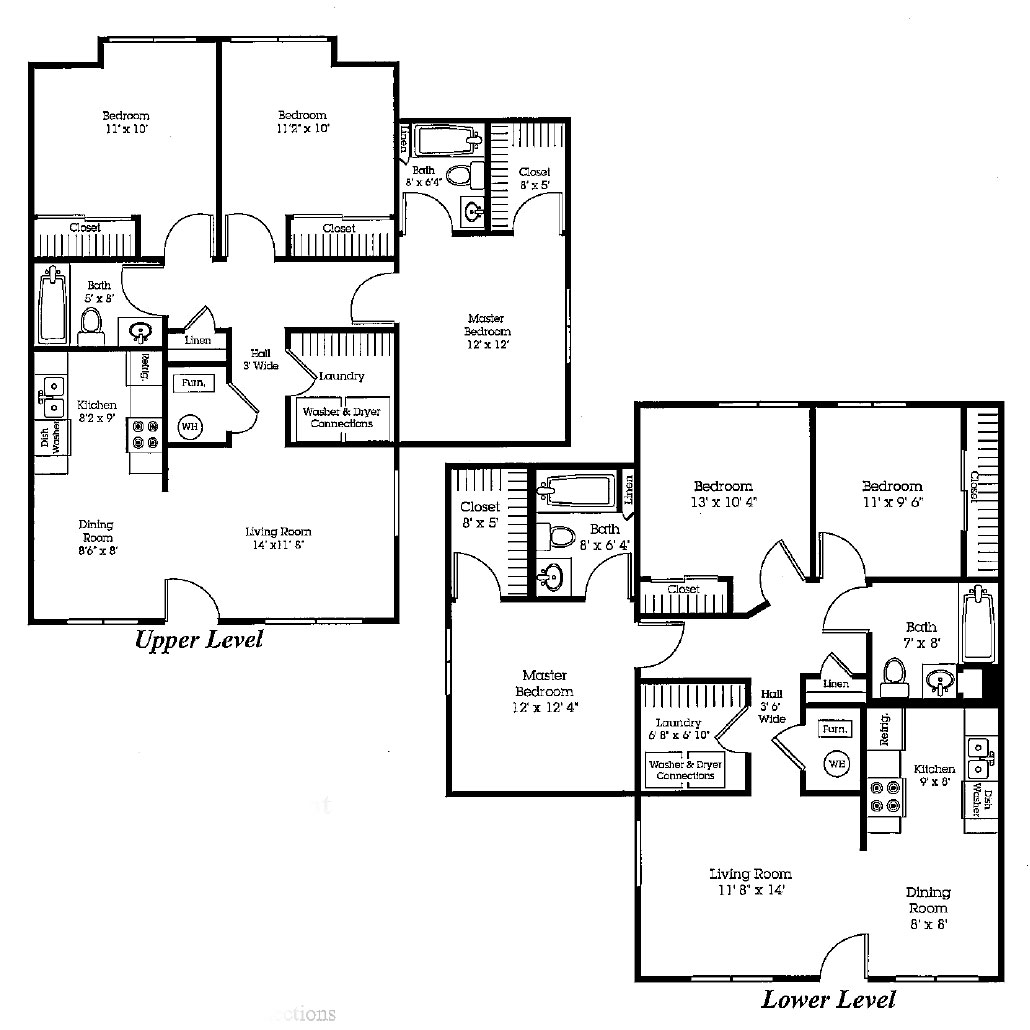 The Bluffs - Floorplan - Three Bedroom