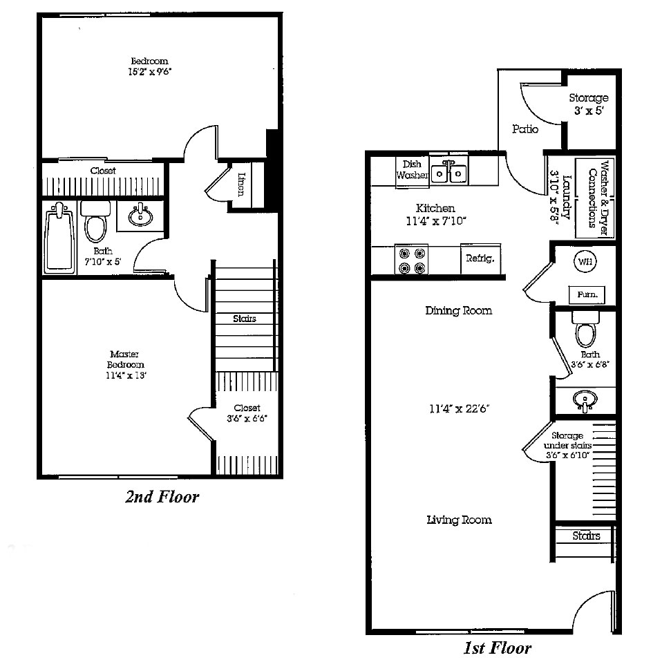 The Bluffs - Floorplan - Townhome