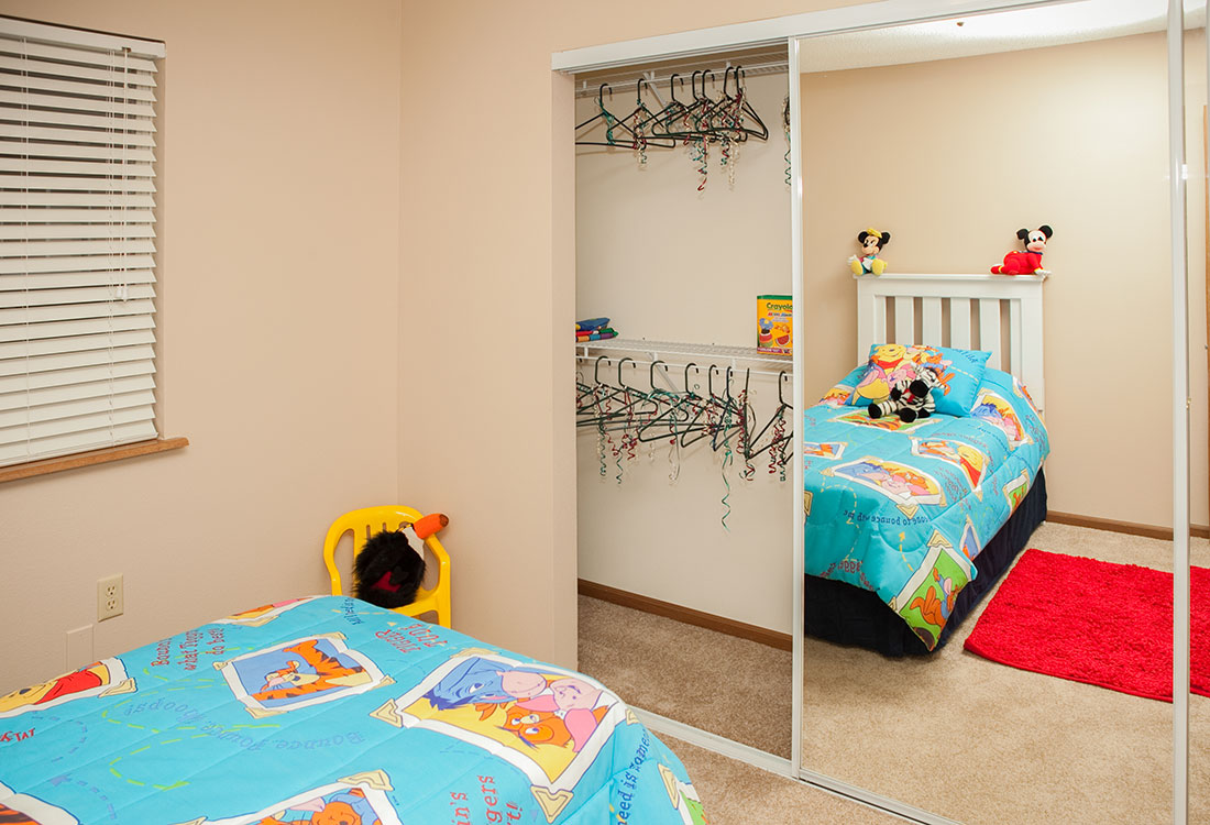 Spacious Walk-In Closets at The Bluffs Apartments in Council Bluffs, IA