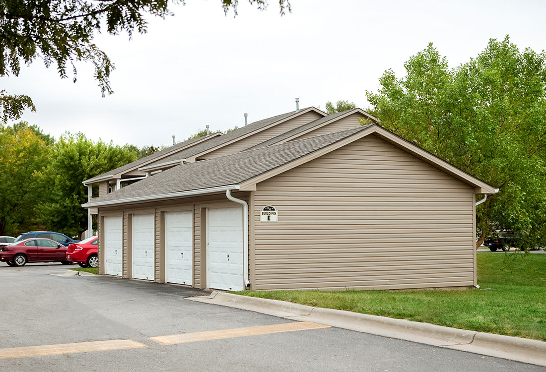 Detached Garages at The Bluffs Apartments in Council Bluffs, IA