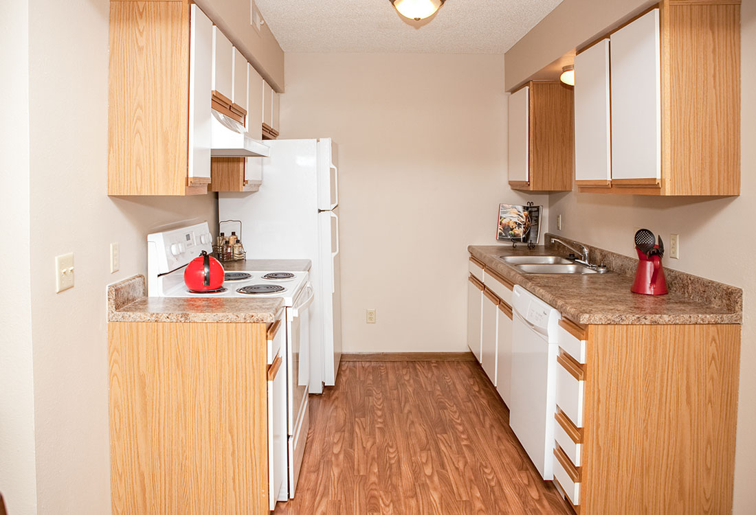 Updated Kitchen Appliances at The Bluffs Apartments in Council Bluffs, IA