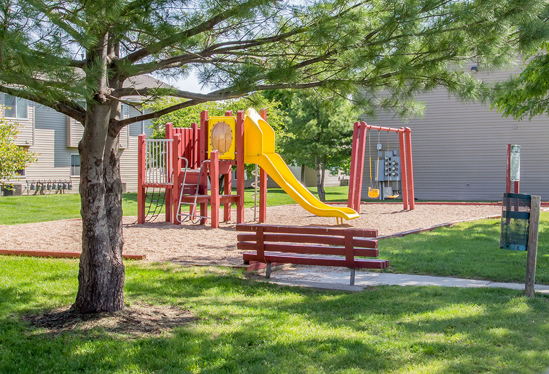 Children's Playground at The Bluffs Apartments in Council Bluffs, IA
