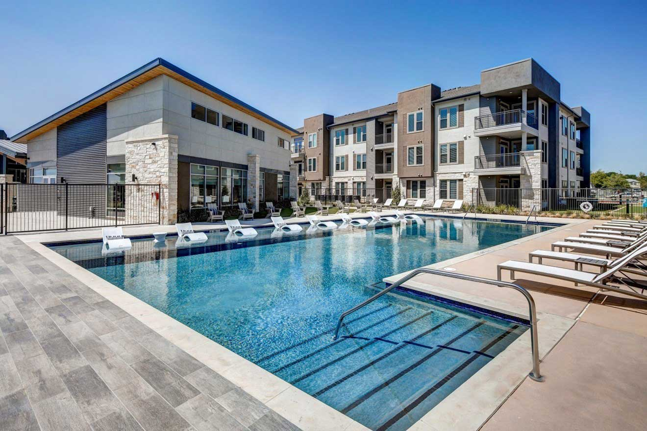 Swimming Pool at The Conley Apartments in Leander, TX