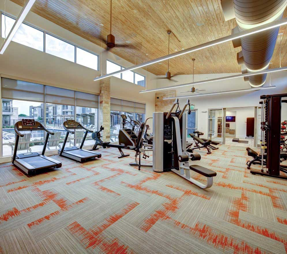 On-Site Gym at The Conley Apartments in Leander, TX