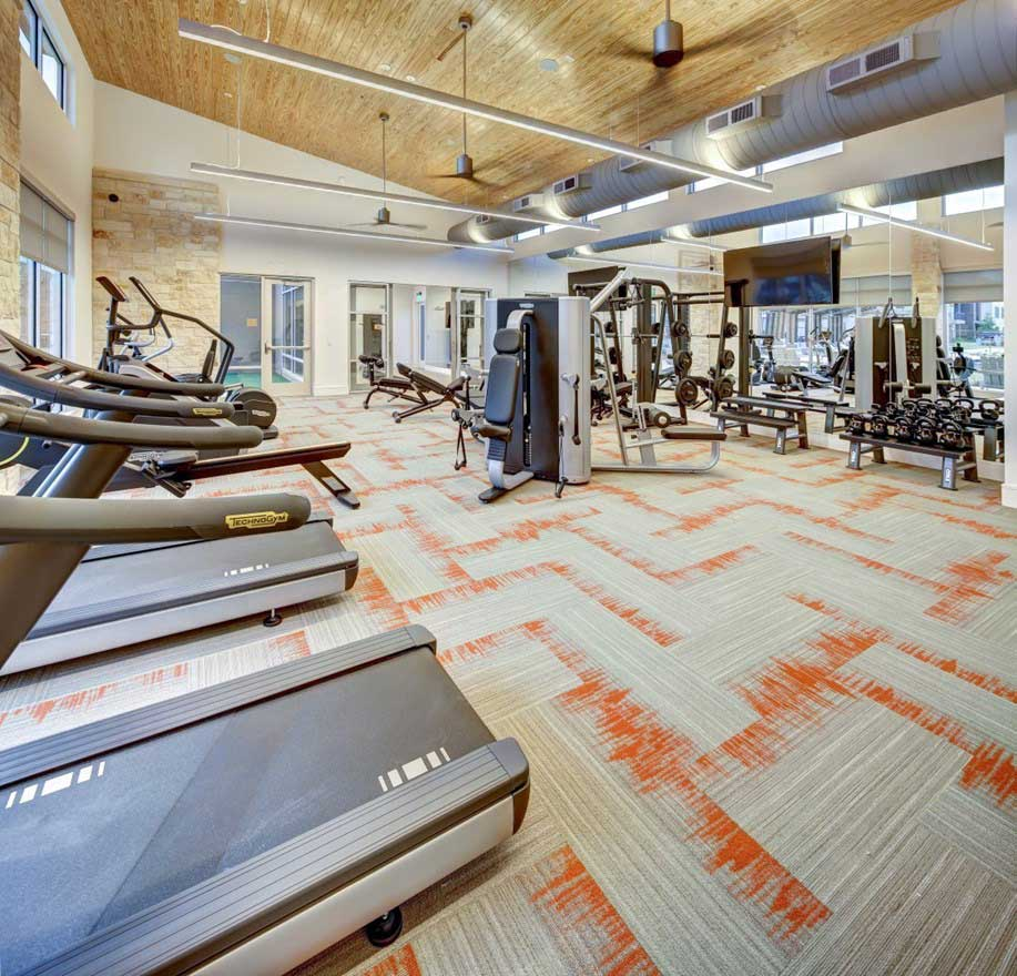 Cardio and Weight Equipment at The Conley Apartments in Leander, TX