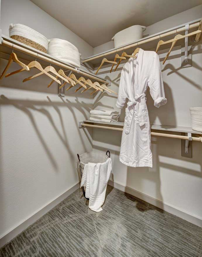 Walk-In Closets at The Conley Apartments in Leander, TX