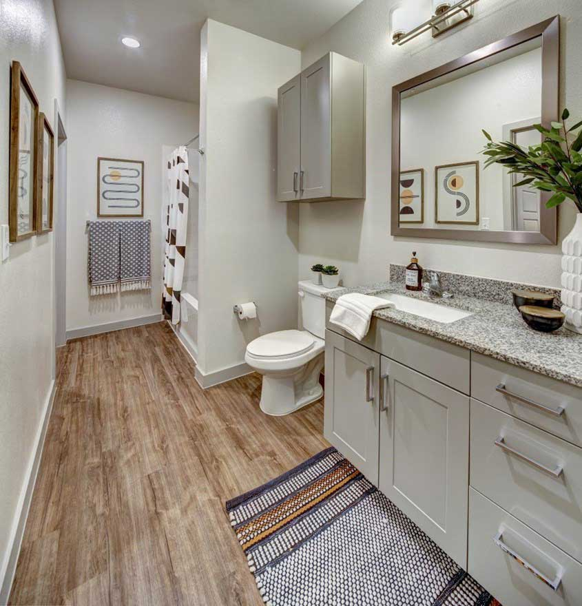 Upgraded Bathrooms at The Conley Apartments in Leander, TX
