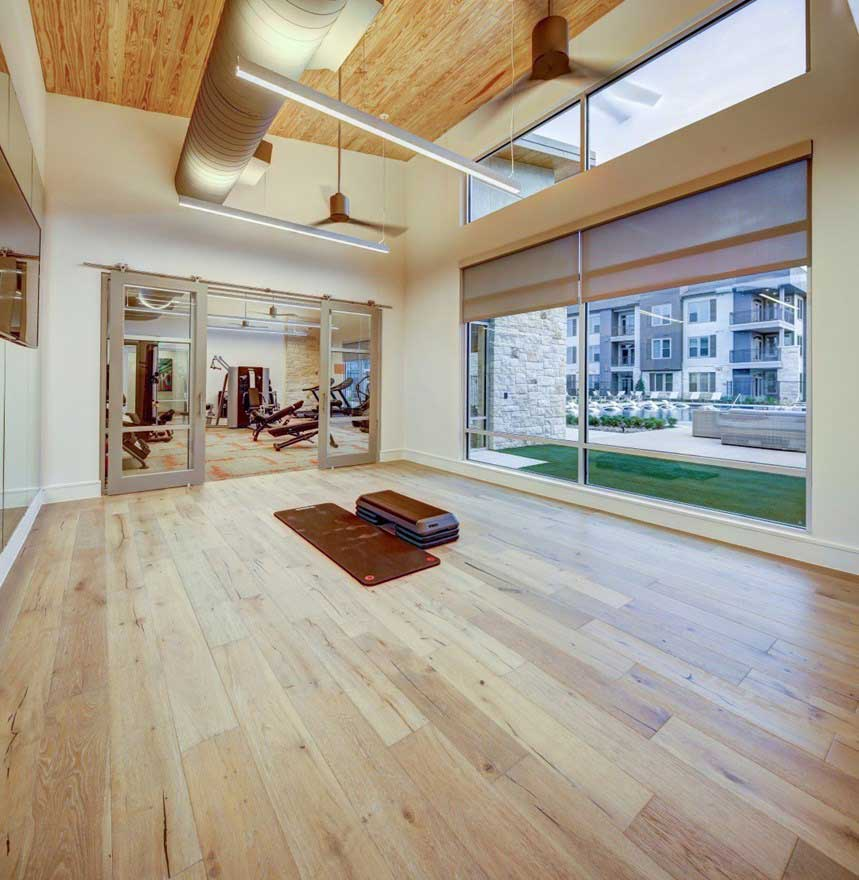 Yoga Room at The Conley Apartments in Leander, TX