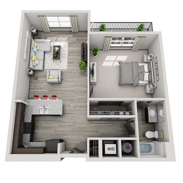 The Flats - Floorplan - 1.1C