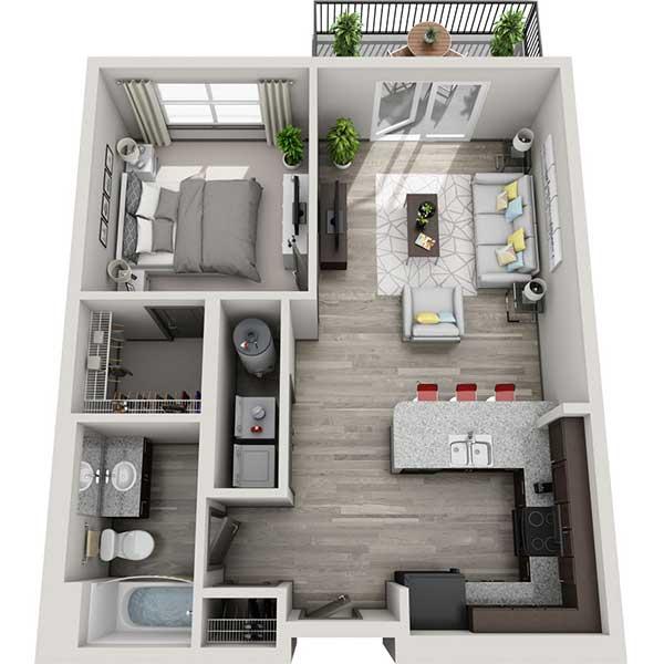 Floorplan - 1.1E image