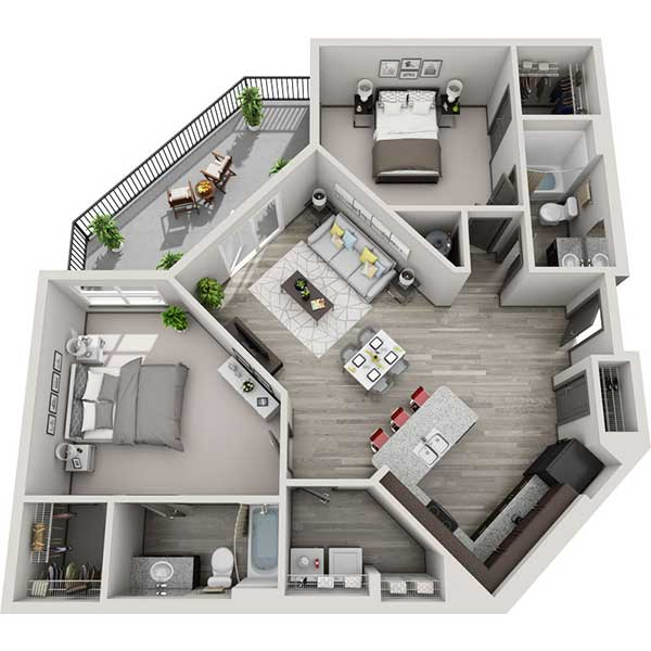 The Flats - Floorplan - 2.2C