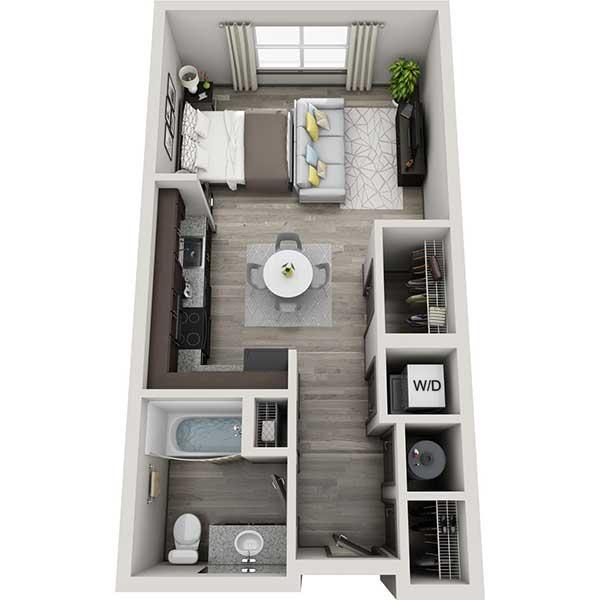 The Flats - Floorplan - Studio