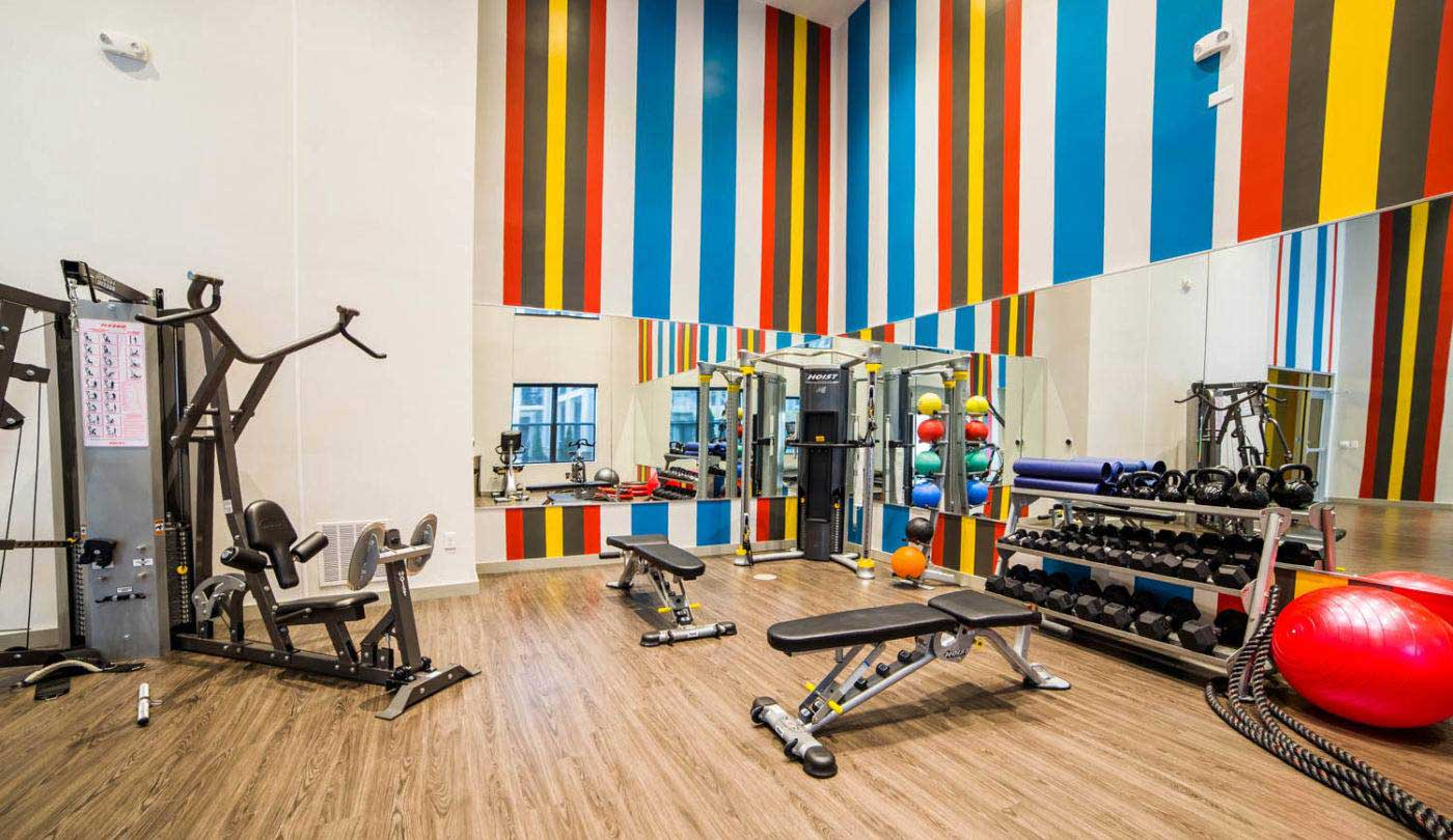 On-Site Fitness Center at The Flats Apartments in Miamisburg, OH