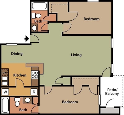 The Harrison - Floorplan - Two Bedroom B