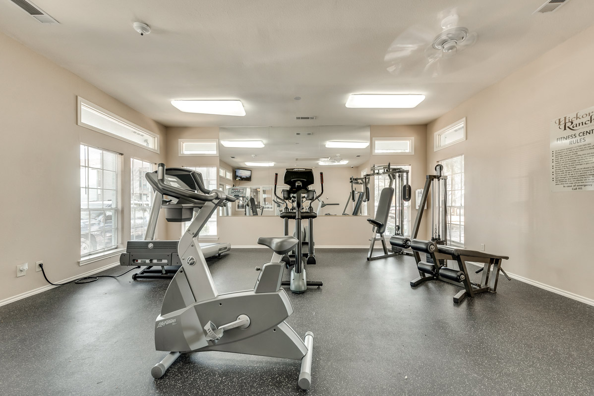 Fitness Center at The Harrison Apartments in Dallas, TX