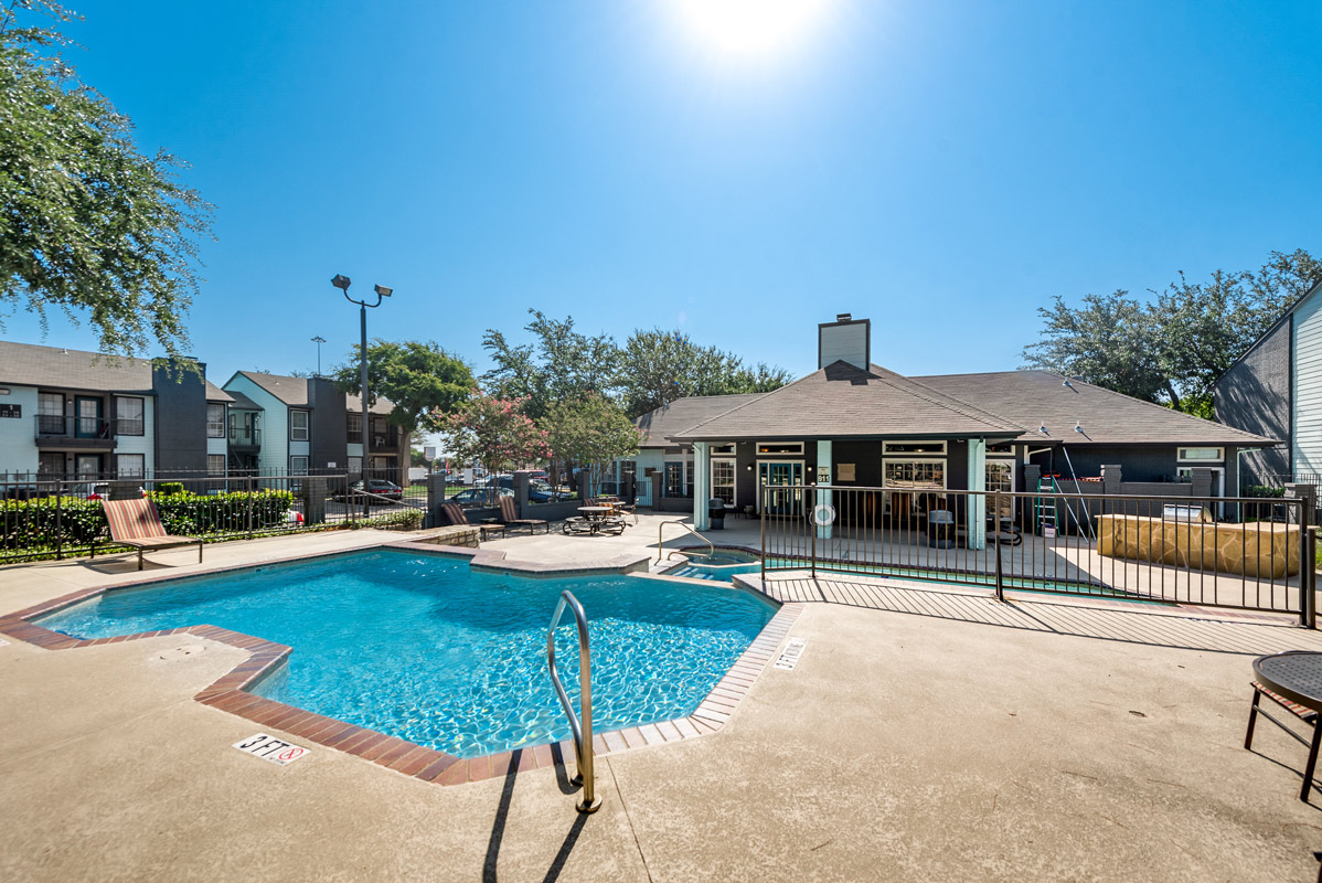 Updated Pool at The Harrison Apartments in Dallas, TX