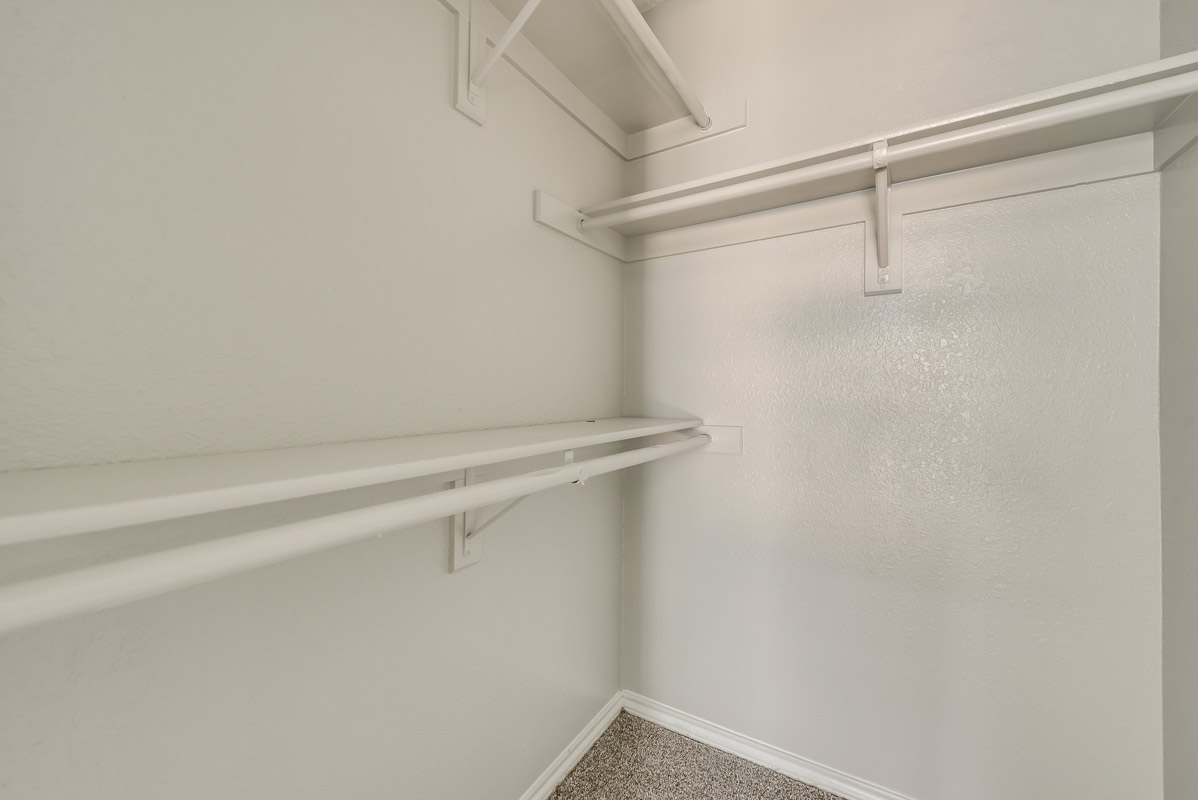 Walk-in Closet at The Harrison Apartments in Dallas, TX