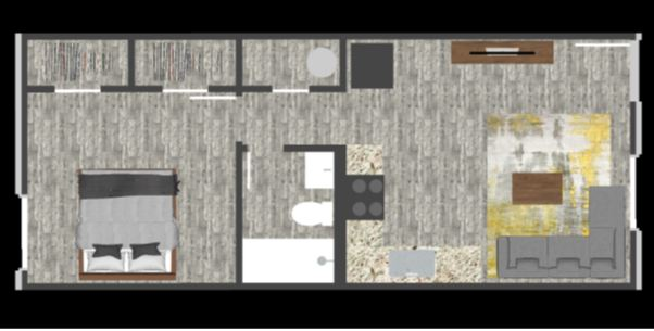 Floorplan - 1 Bed image