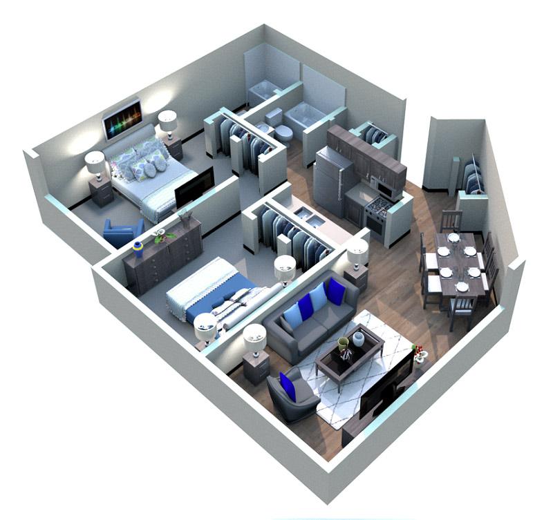The Midrise Apartments - Floorplan - Warehouse