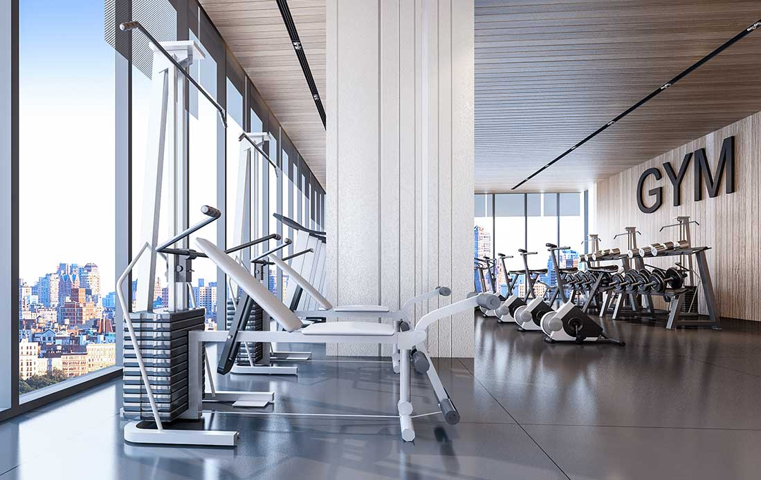 Fully-Equipped Fitness Center at The Cosmopolitan in New Orleans, LA