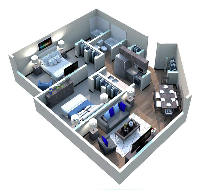 The Downtown Apartments - Floorplan - Warehouse