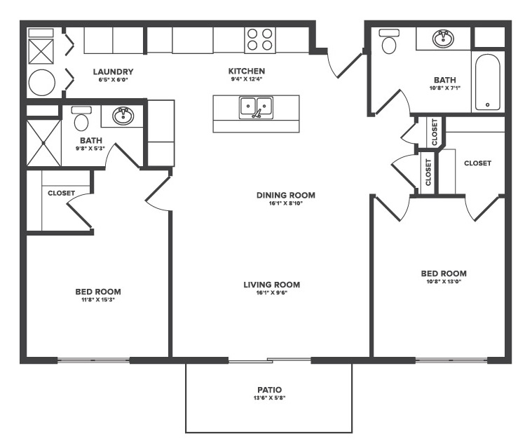 The Oaks at Lakeview - Floorplan - Atwater