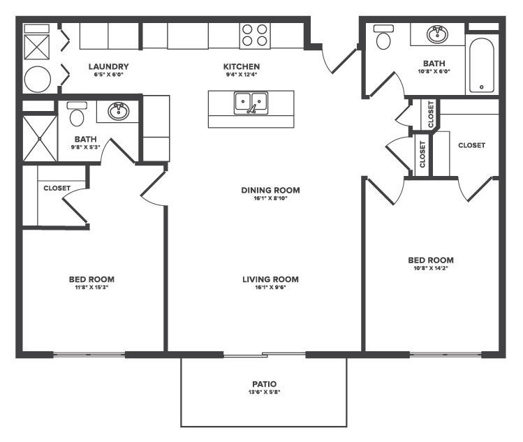 The Oaks at Lakeview - Floorplan - Brooks
