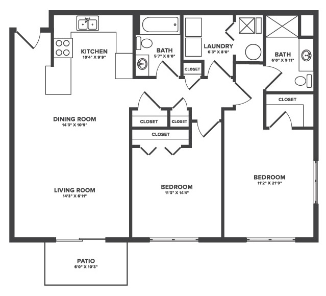 Floorplan - Wiley image