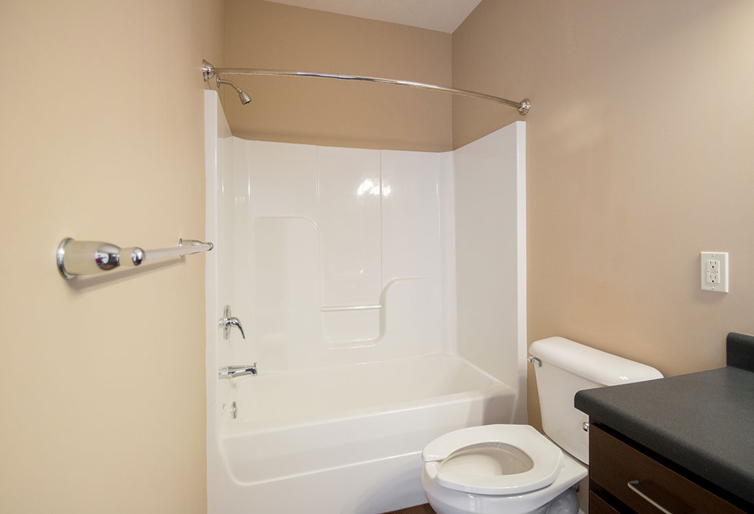 Bathroom at The Oaks at Lakeview Apartments in Ralston, NE