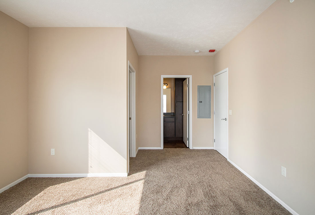 Bedroom at The Oaks at Lakeview Apartments in Ralston, NE