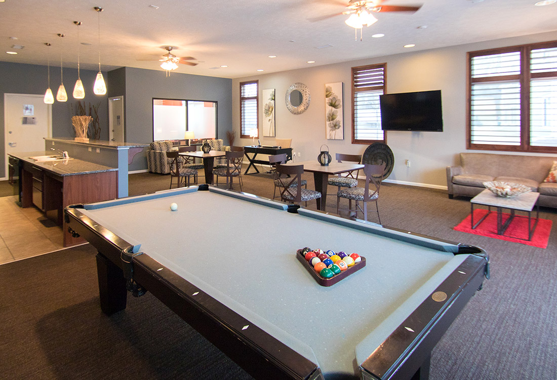 Billiards Table at The Oaks at Lakeview Apartments in Ralston, NE