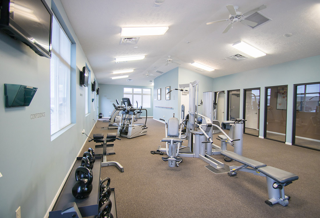 Fitness Center at The Oaks at Lakeview Apartments in Ralston, NE