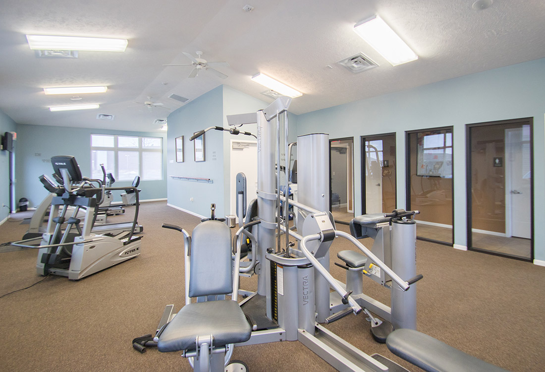 24-Hour Fitness Center at The Oaks at Lakeview Apartments in Ralston, NE