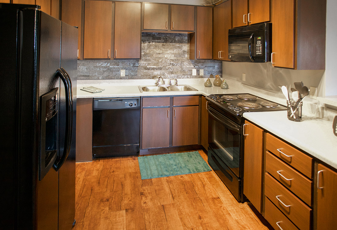 Hardwood Flooring at The Oaks at Lakeview Apartments in Ralston, NE