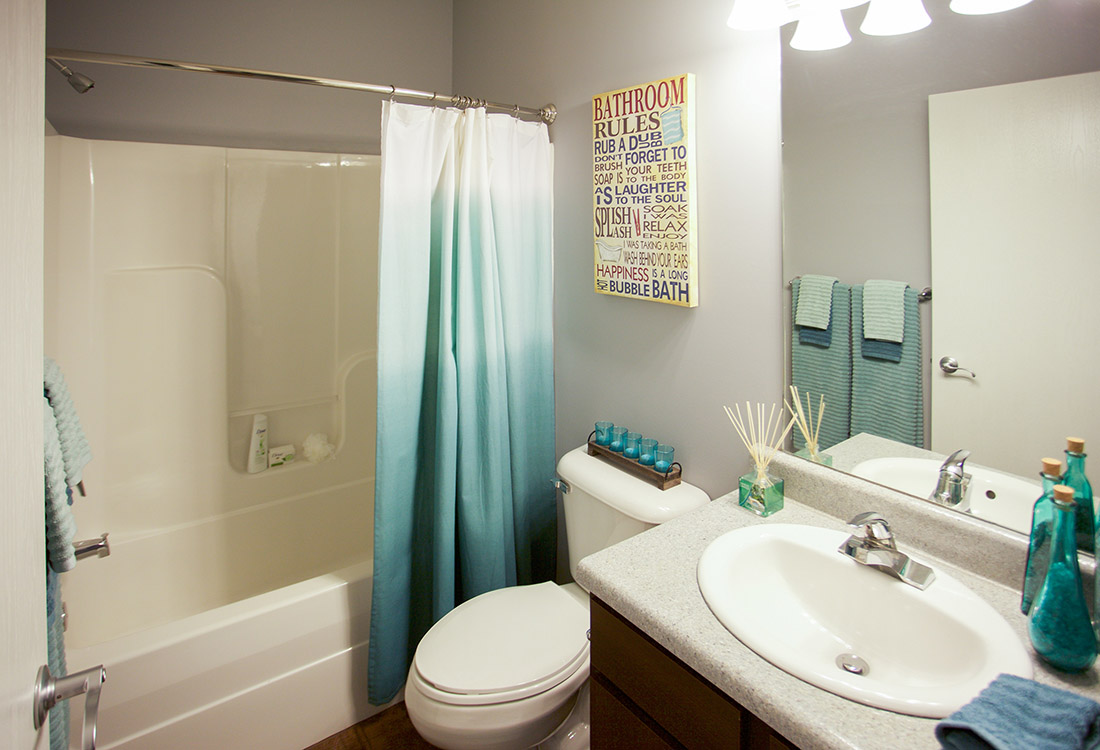 Spacious Bathrooms at The Oaks at Lakeview Apartments in Ralston, NE