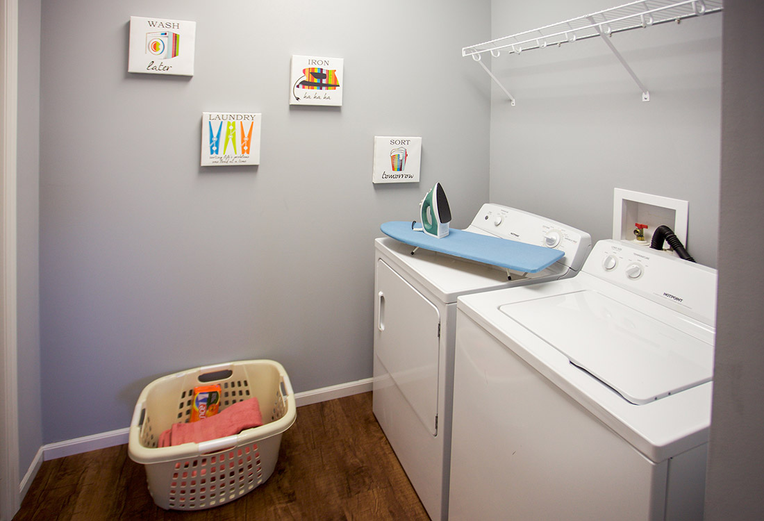 Full-Size Washer and Dryer at The Oaks at Lakeview Apartments in Ralston, NE