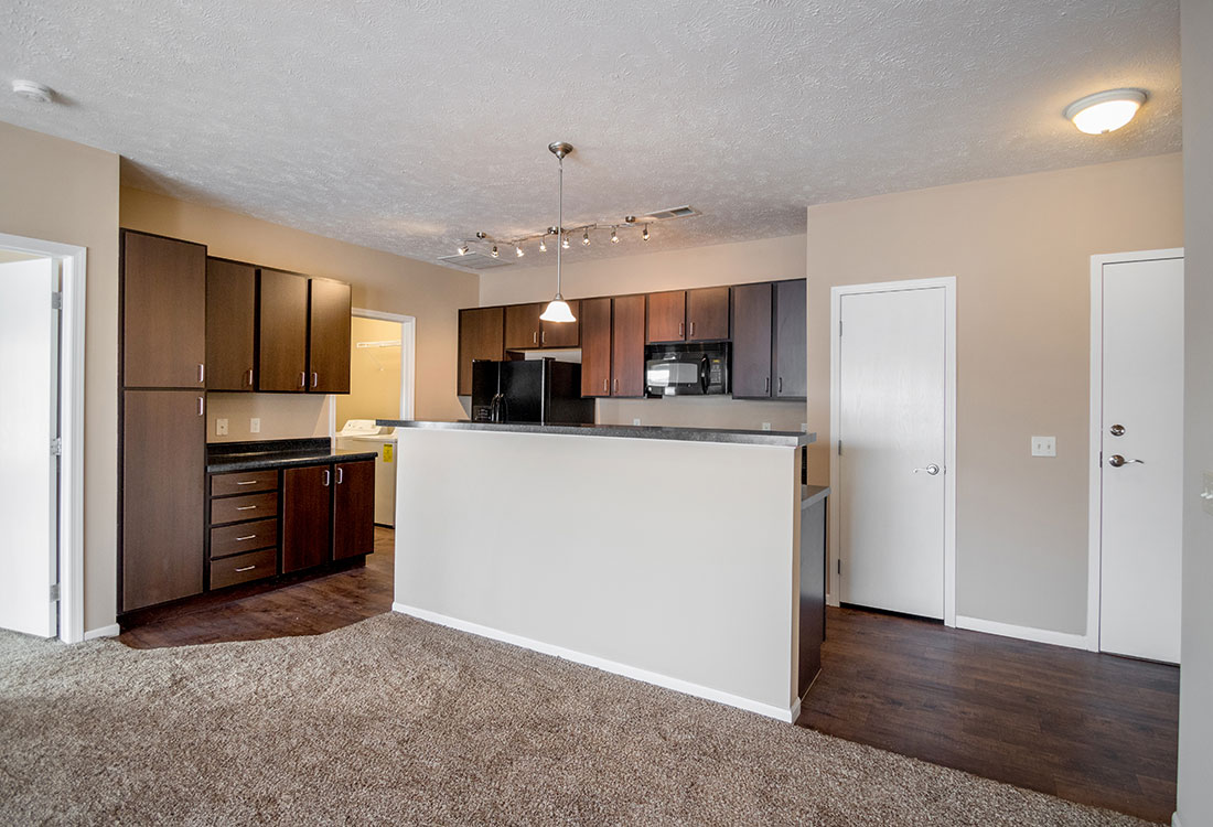 Kitchen at The Oaks at Lakeview Apartments in Ralston, NE