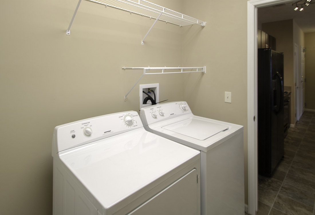 Walk-In Laundry Room at The Oaks at Lakeview Apartments in Ralston, NE