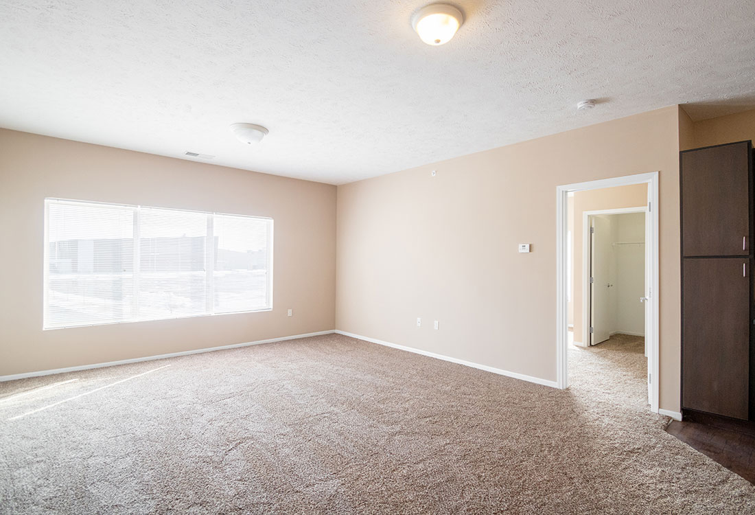 Living Room at The Oaks at Lakeview Apartments in Ralston, NE