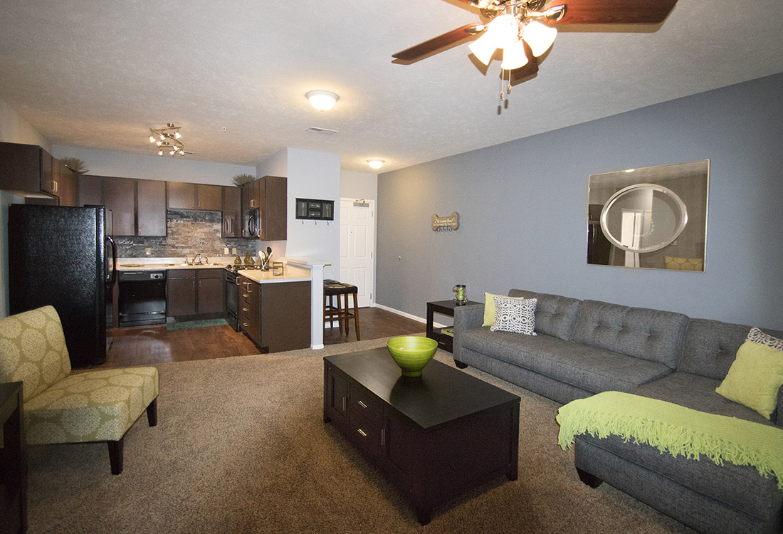 Plush Carpeting at The Oaks at Lakeview Apartments in Ralston, NE