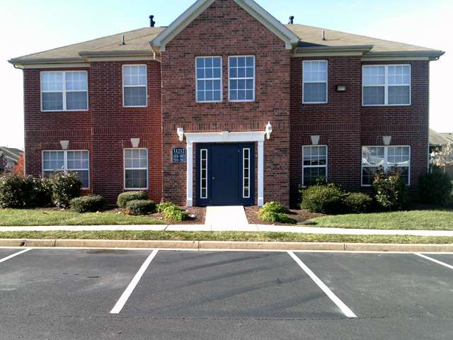 Front View at the Regency Apartments in Manassas, VA