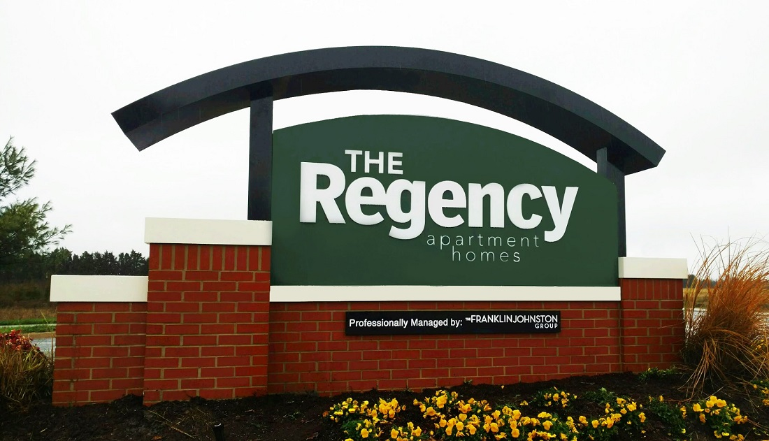 Property Sign at the Regency Apartments in Manassas, VA