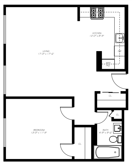 The Warehouse - Floorplan - B1