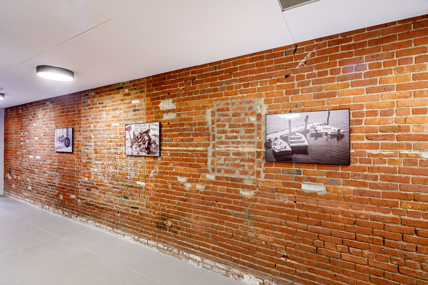 Exposed Brick Accents at The Warehouse Apartments in Somerville, New Jersey