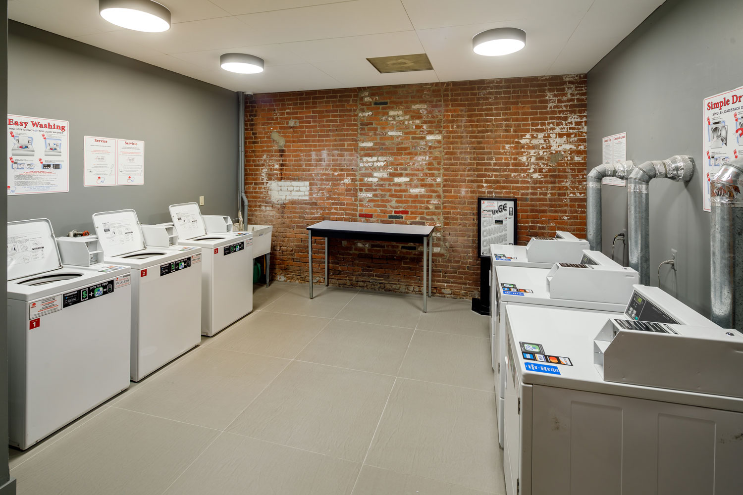 Laundry Room at The Warehouse Apartments in Somerville, New Jersey
