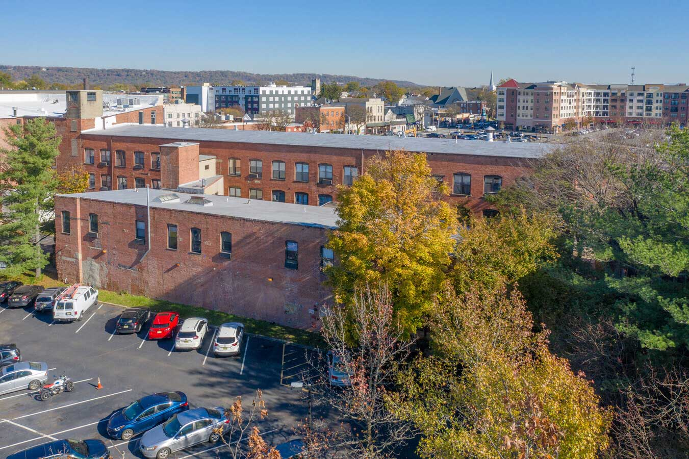 Aerial View at The Warehouse Apartments in Somerville, New Jersey