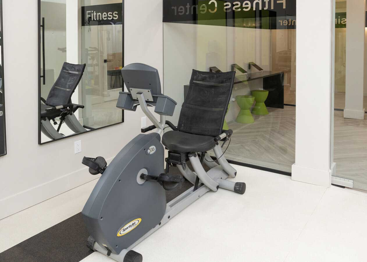 Fitness Center Equipment at The Warehouse Apartments in Somerville, New Jersey