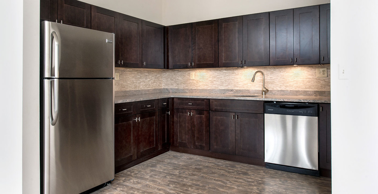 Upgraded Kitchen at The Warehouse Apartments in Somerville, New Jersey