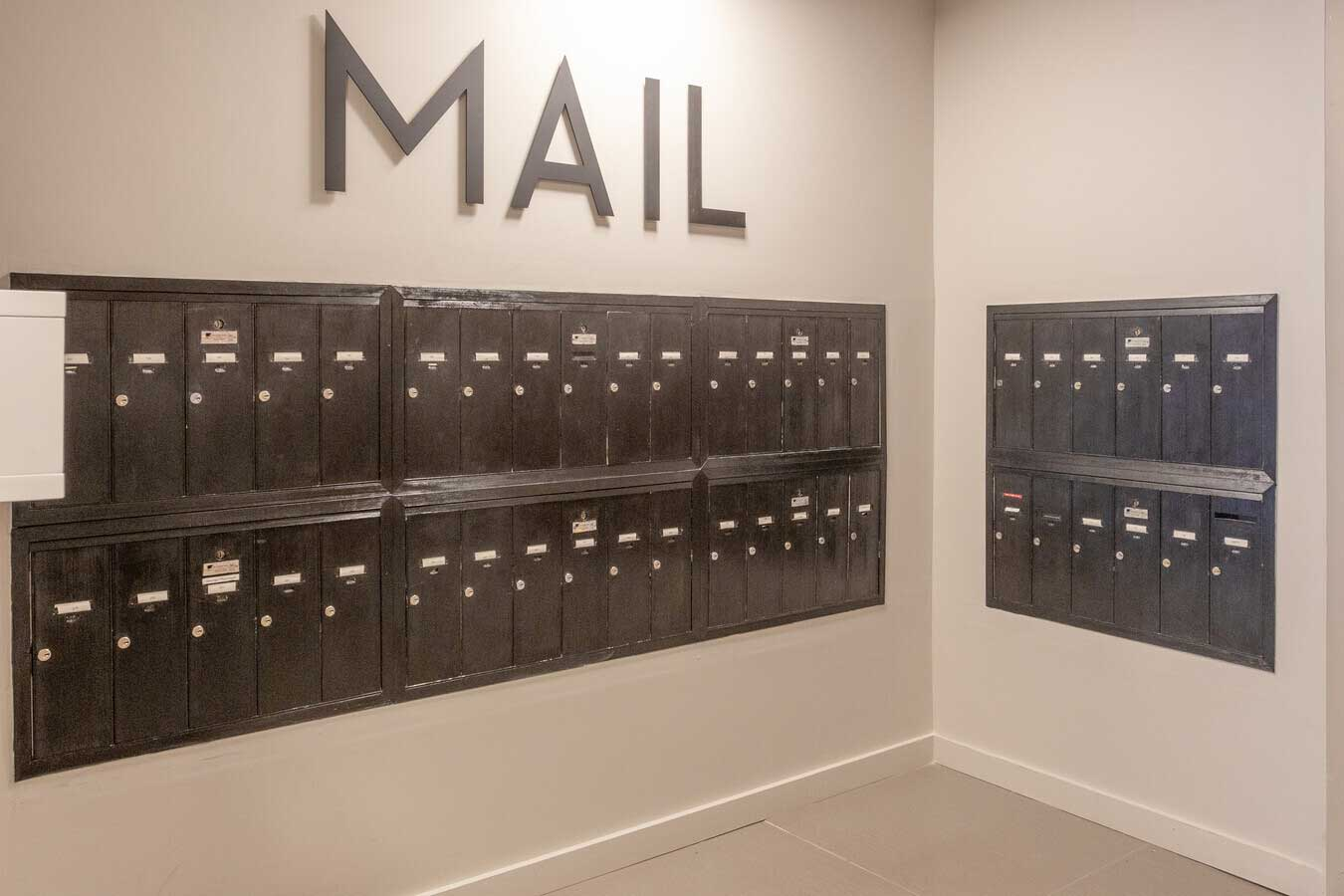 Mail Room at The Warehouse Apartments in Somerville, New Jersey
