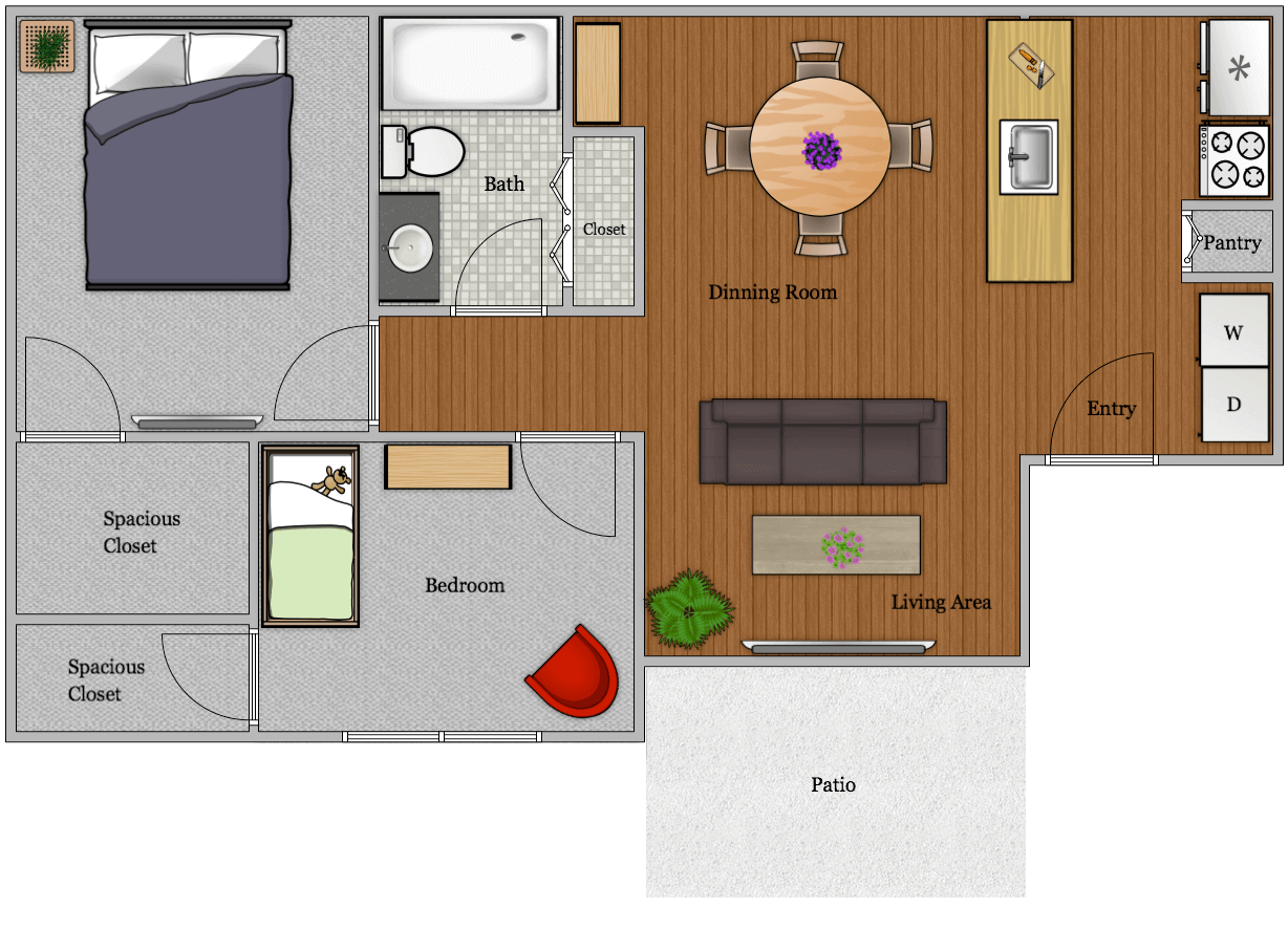The Watermark - Floorplan - 2B1B 902